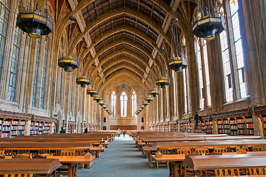 Devised by Seattle architects Carl F. Gould Sr. and Charles H. Bebb, the Gothic-style Suzzallo Library at the University of Washington opened in 1926.
