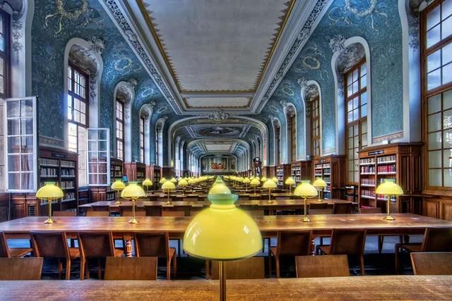 Reading Room Saint-Jacques, Library of the Sorbonne, Paris-Sorbonne University, Paris