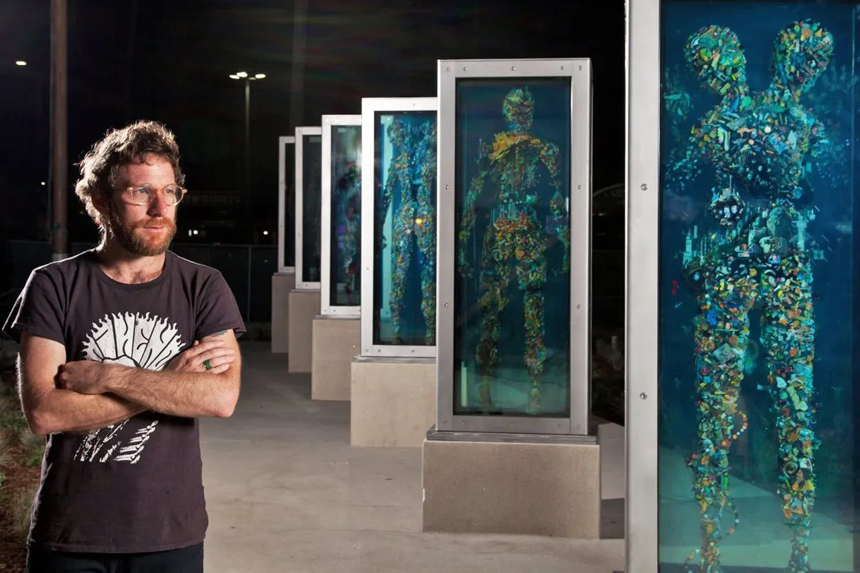 Dustin Yellin L A Outdoor Art Installation