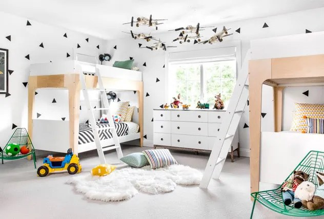 Nursery Idea: A Graphic Black-and-White Kids' Room Update