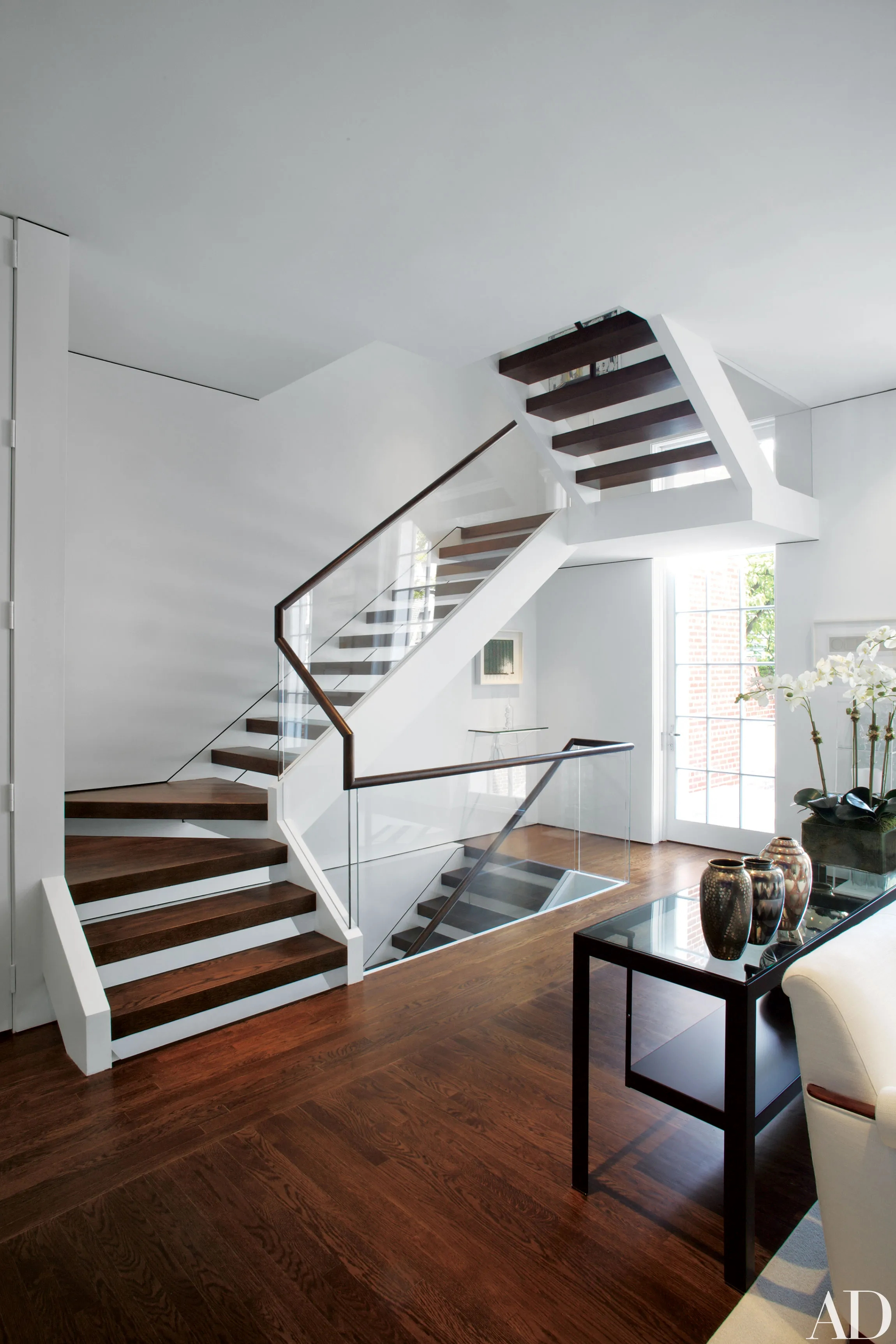 15 Striking Modern Staircases Architectural Digest   House Inner Steps Design   Staircase Window   Bungalow   House Plan   Duplex Shop   Limited Space Small Stair