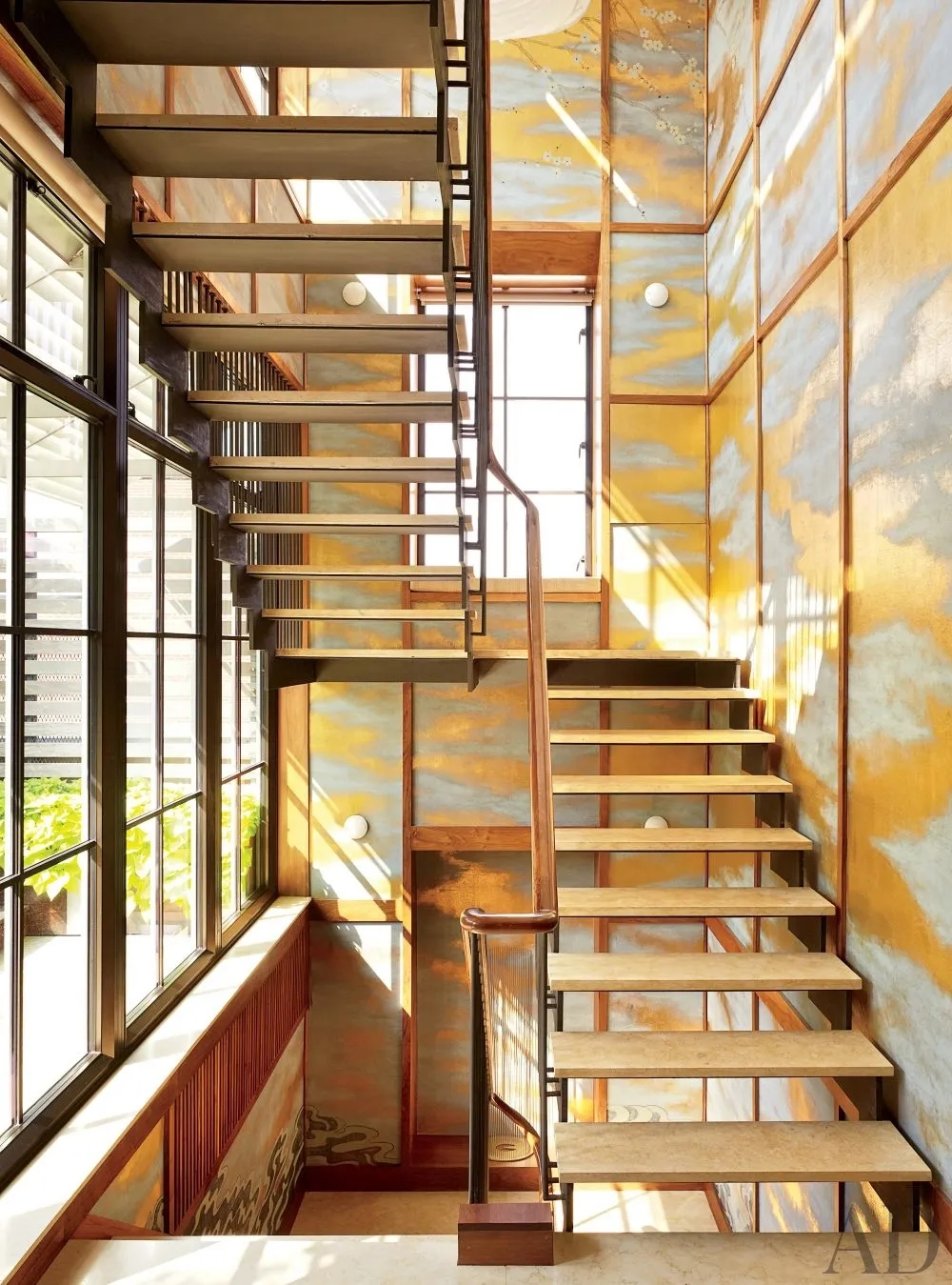 Types Of Stairs Explained Architectural Digest   Duplex House Staircase Wall Design   Tv Cabinet   Stair Wall Paint   Living Room Staircase   Decoration   Exterior Staircase