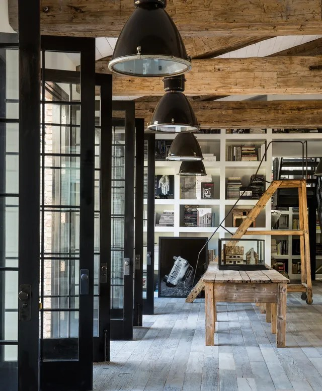 Living Room and doors in Home of Diane Keaton for the book The House That Pinterest Built.
