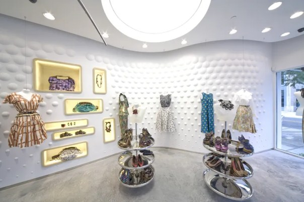 Marni's Miami boutique, designed by Sybarite.