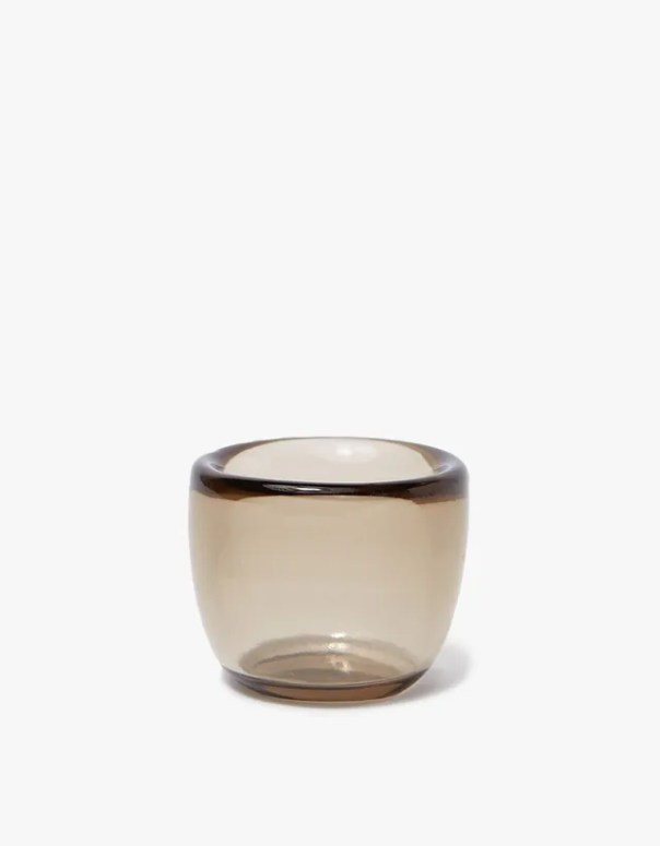 glass votive in Smoke color