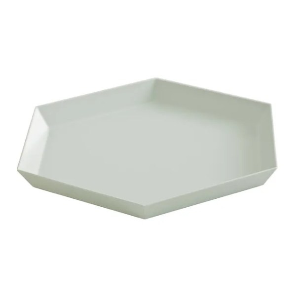 hexagon tray in gray