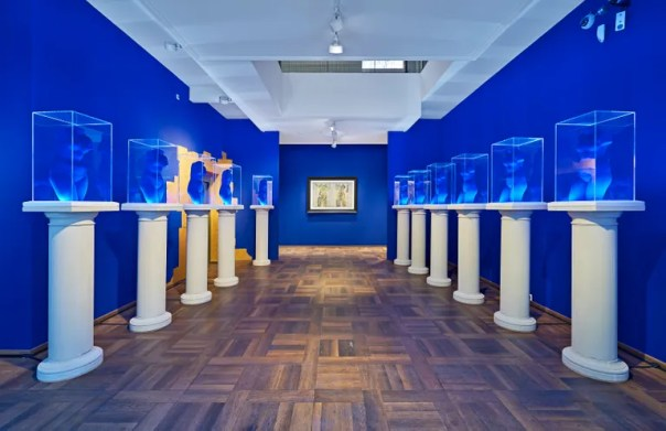 Galerie Gmurzynska St. Moritz's Diana Widmaier Picasso and Yves Klein exhibition.