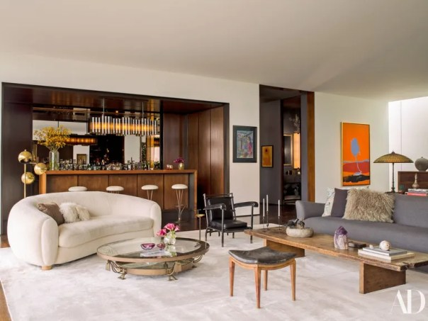 The living room of Jennifer Aniston's Los Angeles home.