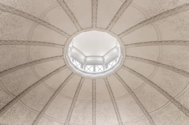 The ceiling of the Baptist Grill restaurant.