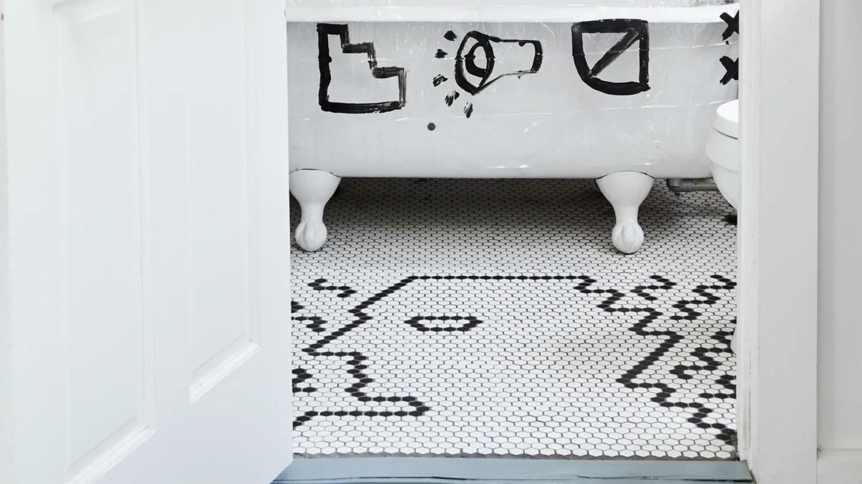 how to diy a custom tile floor