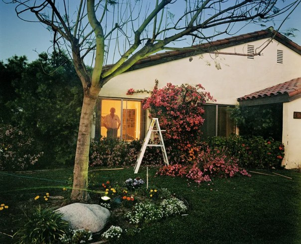 Like Bill Owens, Larry Sultan photographed suburban life, as seen here in Los Angeles, Early Evening, 1986.