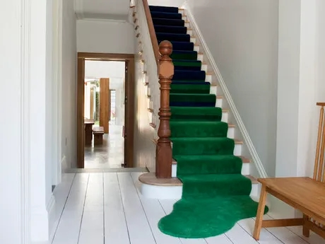 All You Need To Add A Stair Runner Is A Rug And A Staple Gun | Carpet Runners For Steps | Good Quality Carpet | Starter Step Carpet Runner | Solid Colour | Hollywood | Light Grey