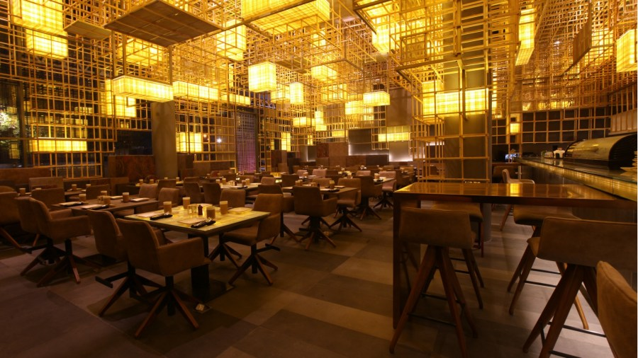 Pan Asian restaurant Gong s interior design offers a lesson in     Pronith Nath designed Gong s interior space to embrace a modern take on  this conventional architectural style