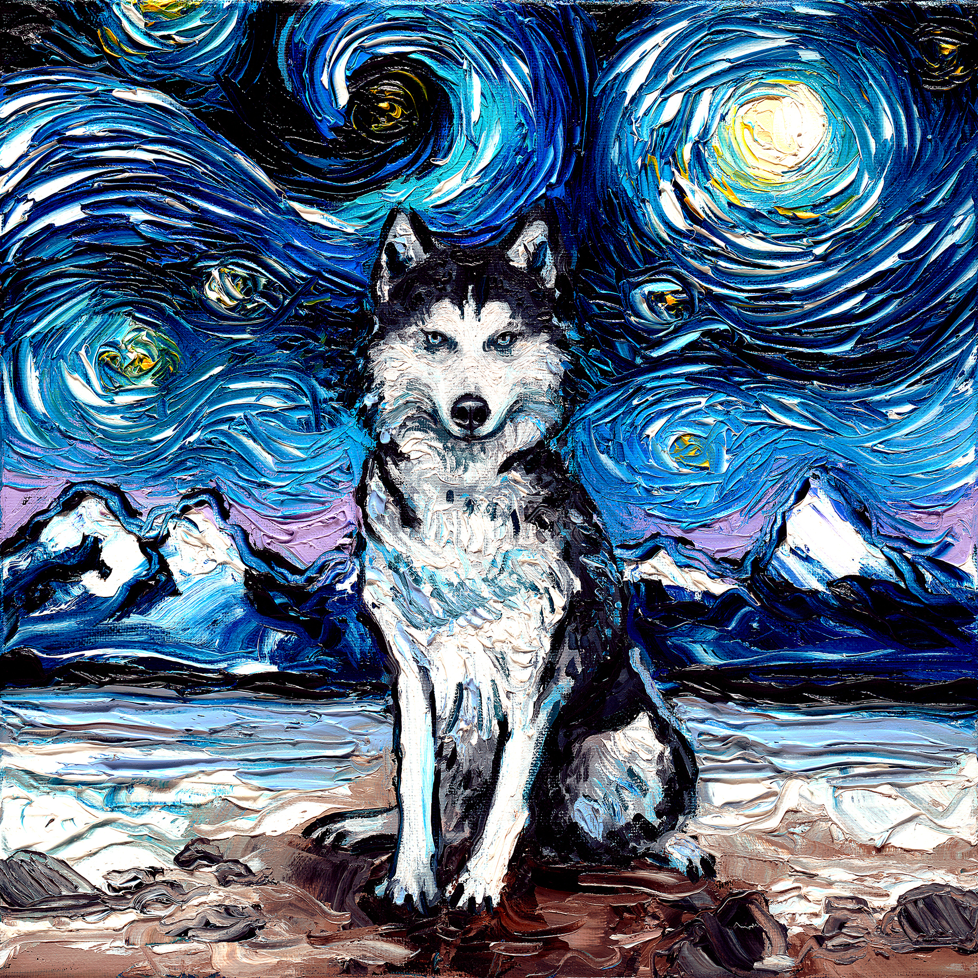 This Artist Revamps Vincent Van Gogh S Starry Night With