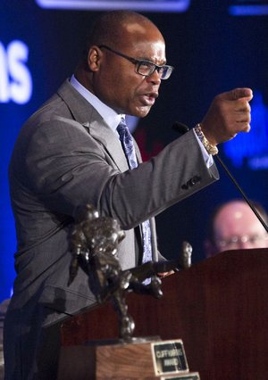"""Mike Singletary, the Pro Football Hall of Fame member and former Chicago Bear, told the Little Rock Touchdown Club on Tuesday that domestic violence isn't just a problem in the NFL, """"it's all over the country."""""""