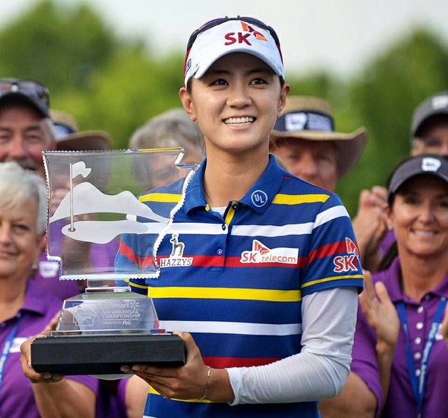 na-yeon-choi-rallied-over-the-final-three-holes-to-win-the-lpga-northwest-arkansas-championship-on-sunday-at-pinnacle-country-club-in-rogers-choi-trailed-stacy-lewis-by-one-shot-when-she-eagled-the-par-4-on-the-no-16-hole-then-birdied-no-17-to-pull-away-for-her-ninth-lpga-title