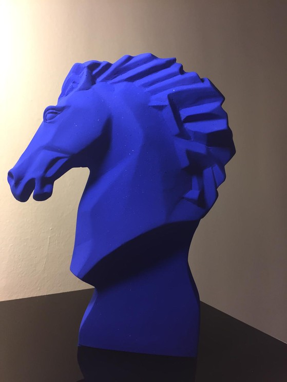 Cheval Bleu Klein By Maxime Davoust 2020 Sculpture Artsper 1002123