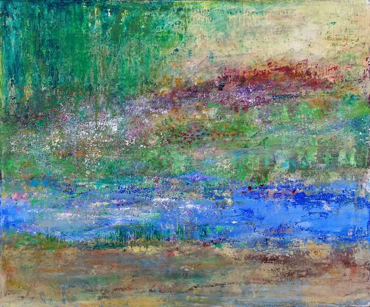 Composition En Vert Jaune Et Bleu By Jean Francois Guelfi 2021 Painting Artsper 1100646