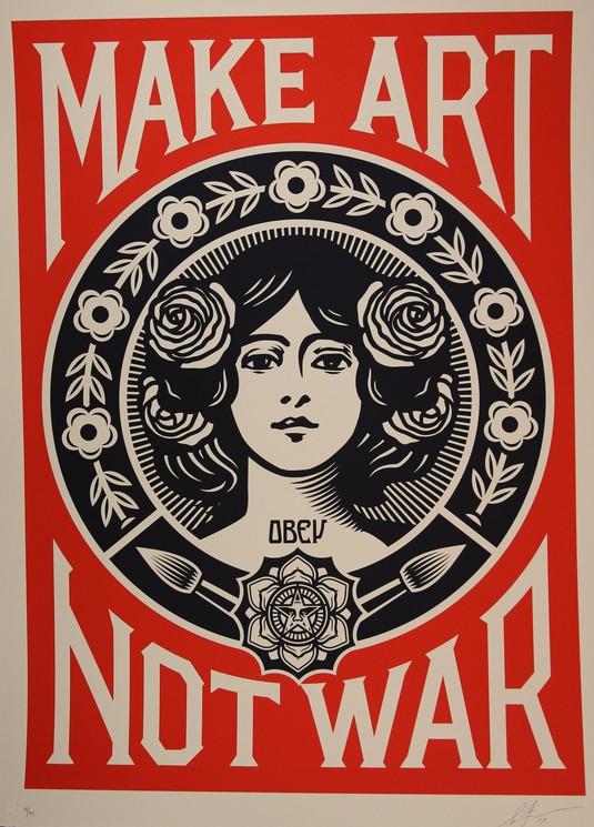 make art not war large format