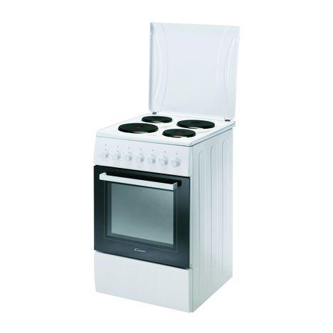 Cuisiniere Electrique Cce5503w 1 50 Cm 4 Foyers Four Electrique Multifonction Candy Pas Cher A Prix Auchan