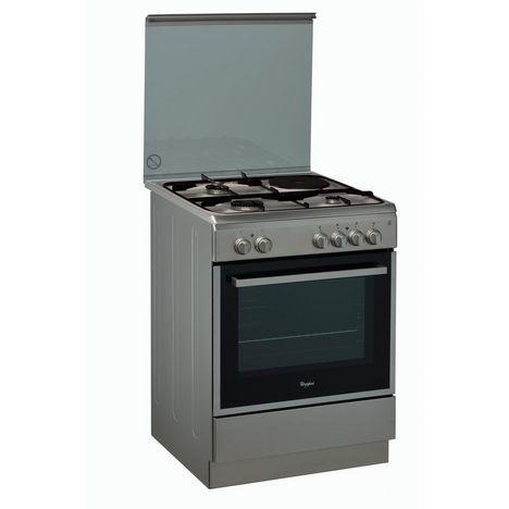 Cuisiniere Mixte Acmk6433ix 60 Cm 3 Foyers A Gaz 1 Electrique Four Catalyse Multifonction Whirlpool Pas Cher A Prix Auchan