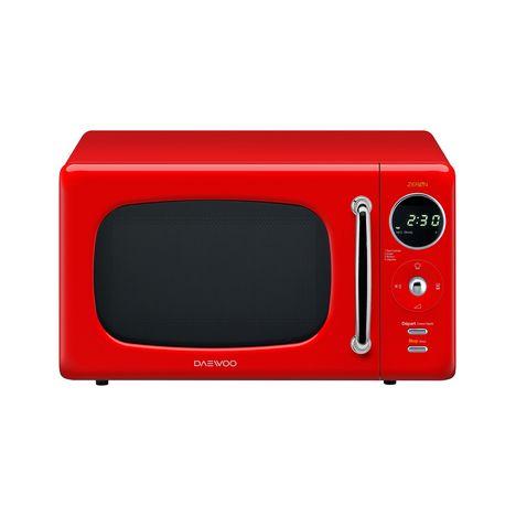 Micro Ondes Kor 6lneor Rouge 800 W 20 L Daewoo Pas Cher A Prix Auchan