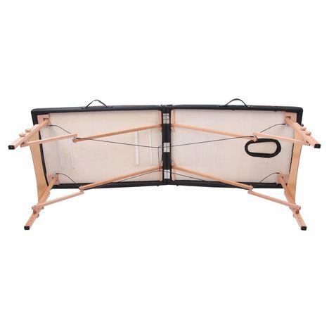 Table De Massage Pliante Tdm102 Noir Yoghi Pas Cher A Prix Auchan