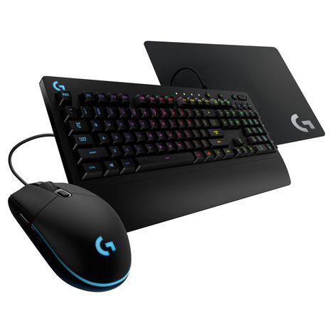 logitech bundle gaming souris g203 clavier g213 tapis de souris g240