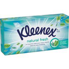 Kleenex Kleenex Boite De Mouchoirs Menthe Eucalyptus X72 72 Mouchoirs Pas Cher A Prix Auchan
