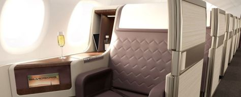 Singapore Airlines business class concept