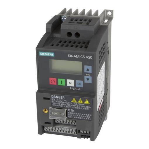 Variable frequency drive Siemens SINAMICS V20   6SL321      Automation24 Variable frequency drive Siemens SINAMICS V20   6SL3210 5BB17 5BV1
