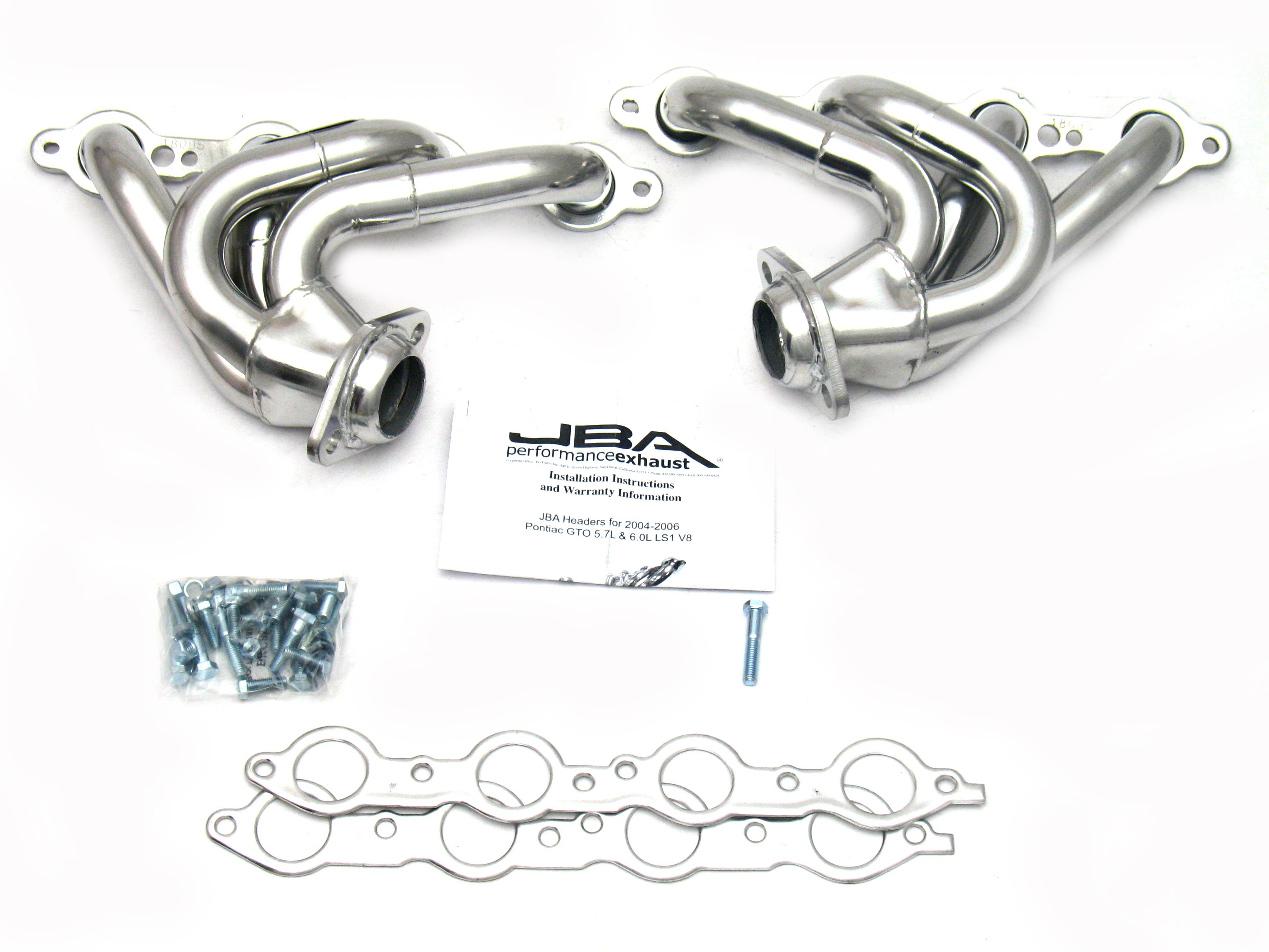 Jba Headers Sjs For 04 06 Pontiac Gto 5 7l Silver