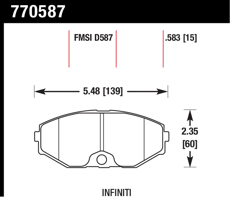 Hawk Performance Oes Premium Ceramic Disc Brake Pads