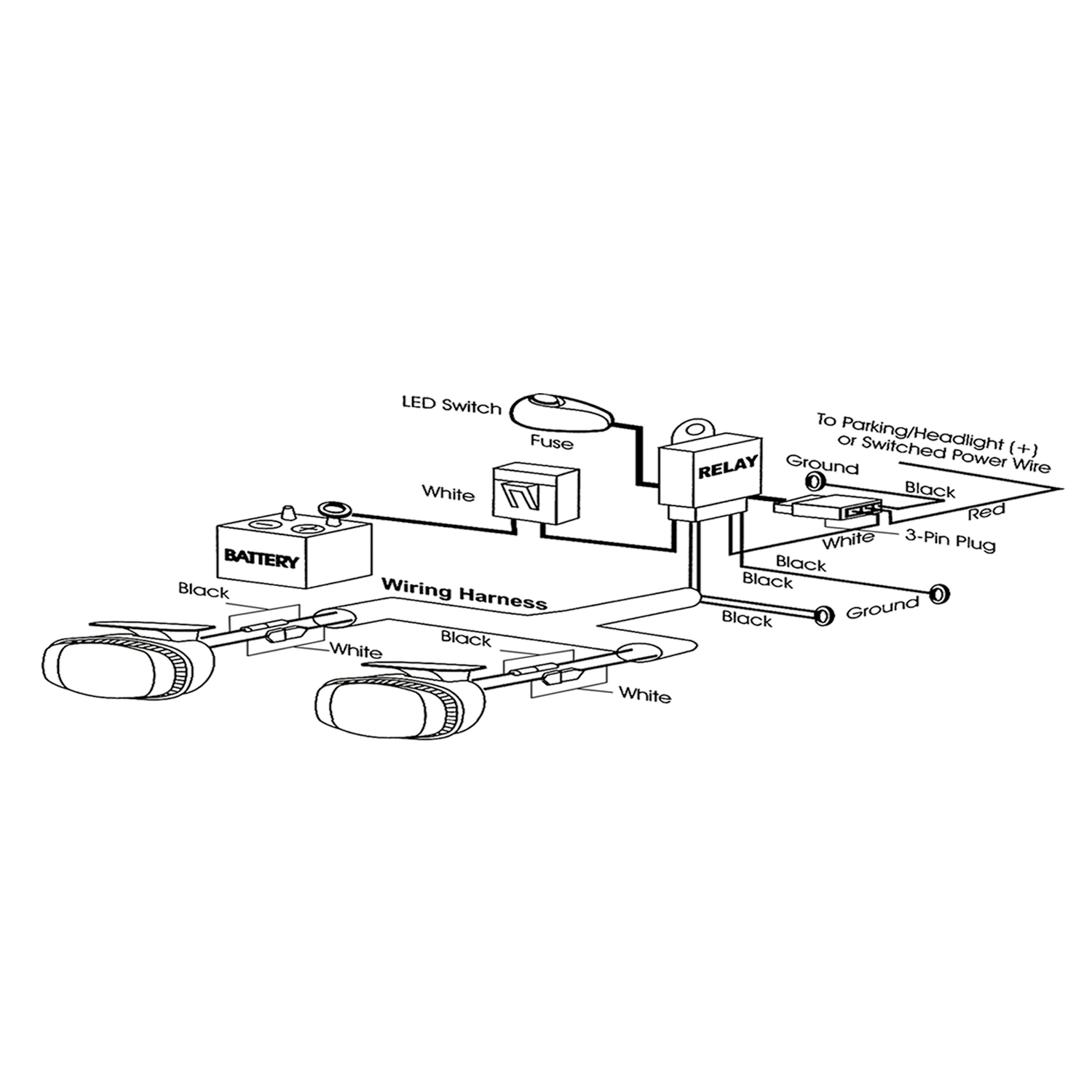 Anzo Usa 12v Auxiliary Wiring Kit