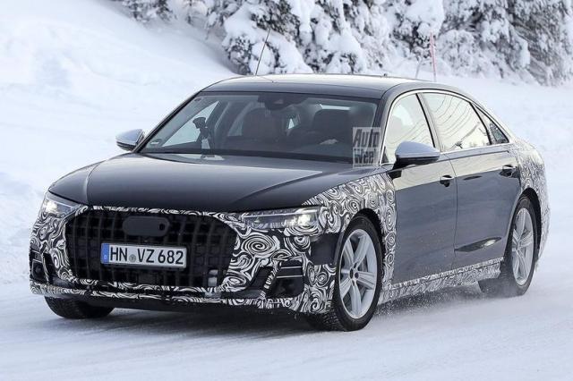 Vernieuwde Audi A8 als ellenlange Maybach-concurrent gesnapt