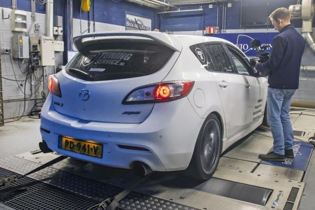 Mazda 3 MPS - Op de Rollenbank