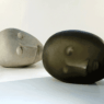 Ann Wolff HEAD and HEAD 2012 h 47 x 70 x 38 cm, concrete and kiln casted glass