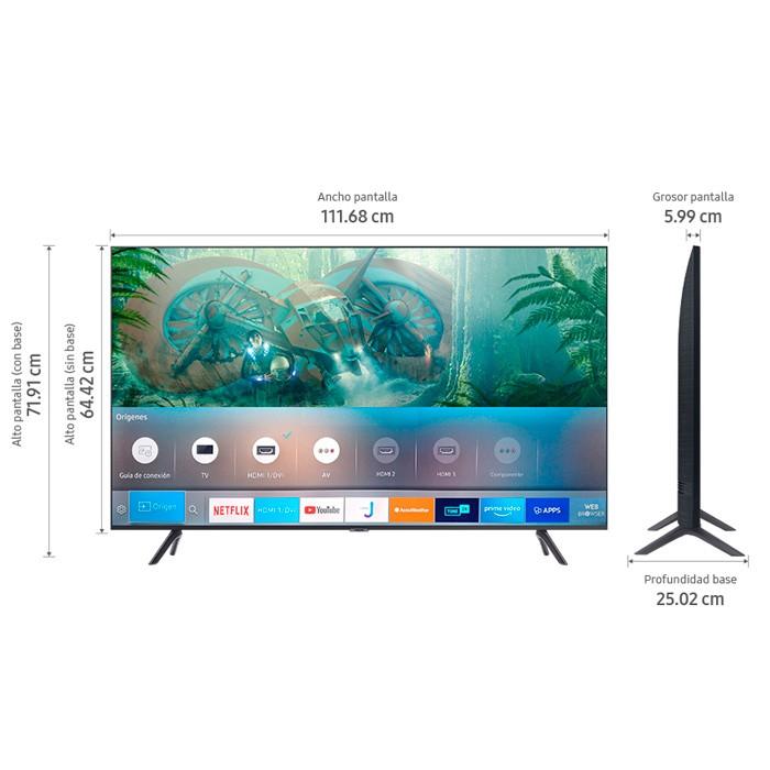 tv samsung 50 pulgadas 127 cm 50tu8000 led 4k uhd plano smart tv