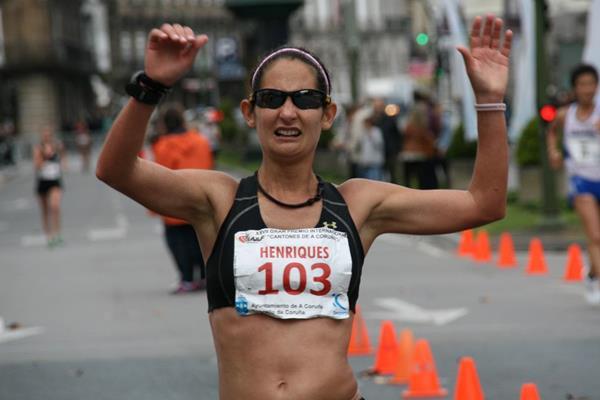 Ines Henriques Winning At The  Iaaf Race Walking Challenge Meeting In La Coruna Luis