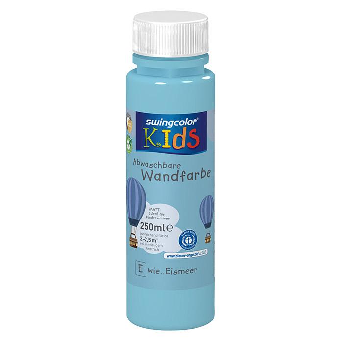 swingcolor KIDS Wandfarbe (Eismeer, 250 ml, Matt) 5870 - Readymix