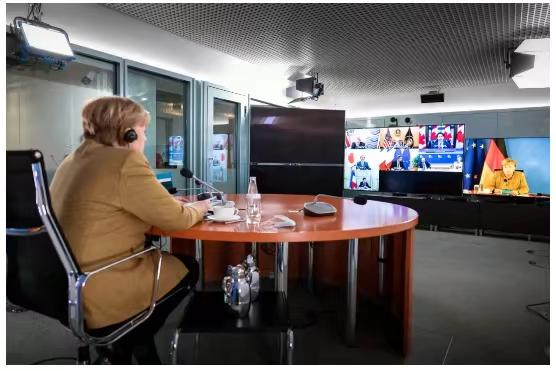 German Chancellor Merkel showed Germany's position.