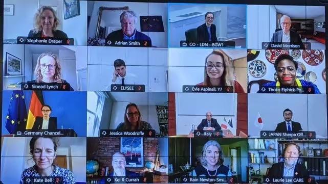 七国集团举行了贸易部长视频会议。