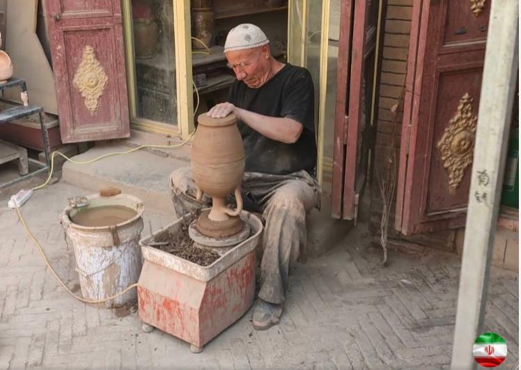 喀什的工匠。