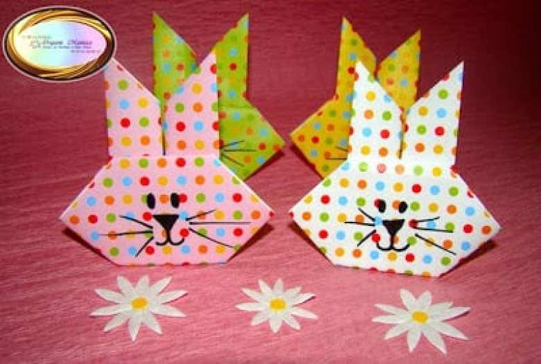 Enkelt pyssel för barn – vik kaniner av papper