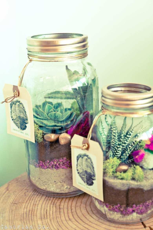 glasburk, glasburkar, mason jars, burk, förvaring, pyssel, pysseltips, pyssla, inredning, pysselidé, idé, idéer, skapa, tips, inspiration, miniträdgård, miniatyrträdgård, trädgård