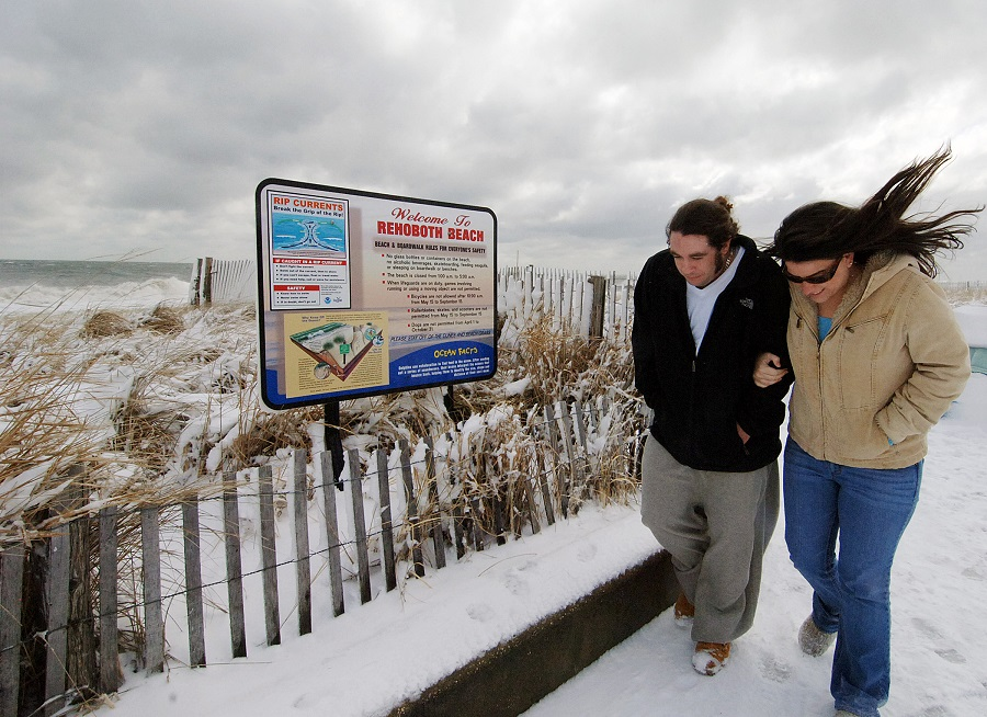 Winter at Rehoboth Beach, Delaware (photo: AP)