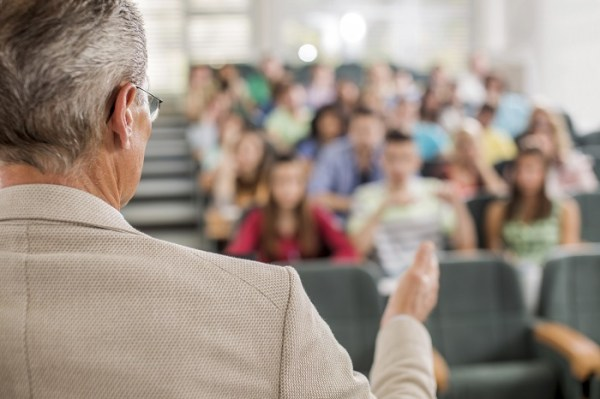 Relate to your audience. (Photo: iStock)  7 ways to sell more by presenting better istock man older teacher