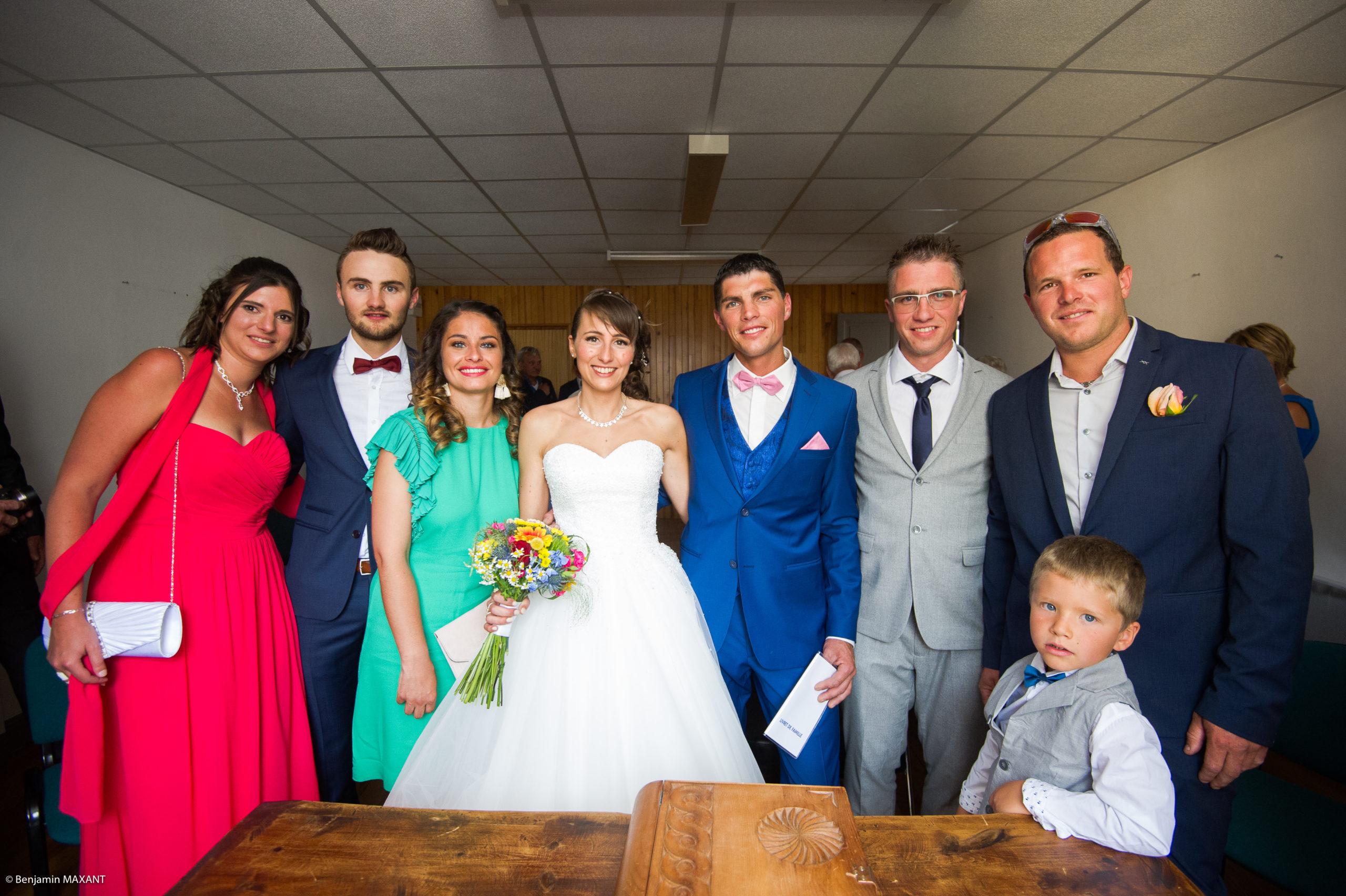 Les témoins et les mariés