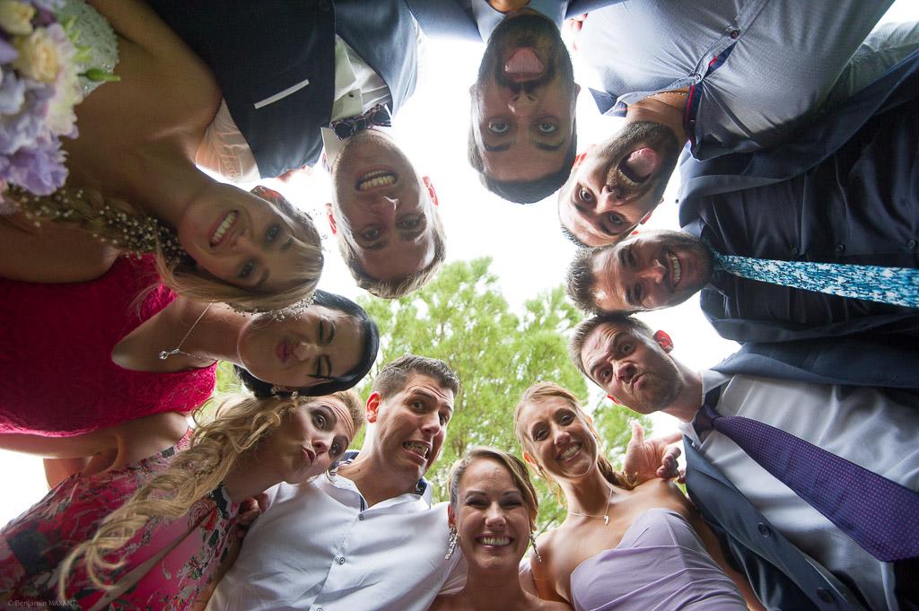 La ronde des témoins et amis des mariés