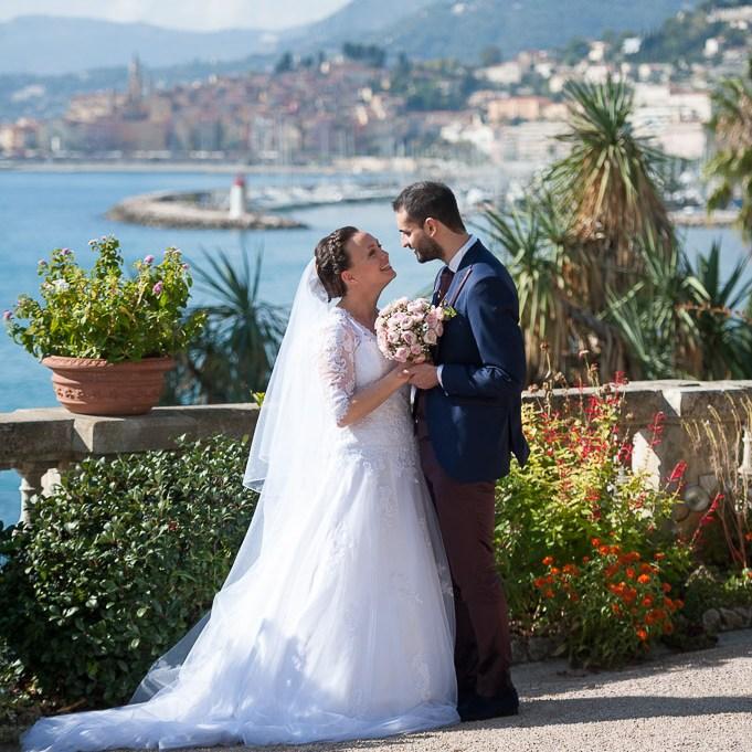 Les jeunes mariés à Menton